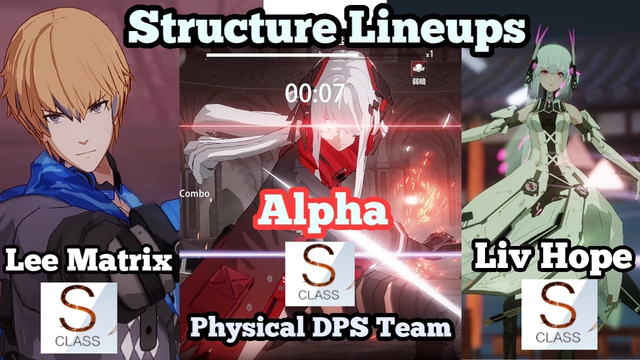 Punishing: Gray Raven Structure Lineup Combat Performance Test Physical DPS Team Alpha, S Lee & Liv